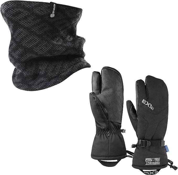 Touch Screen Anti-Slip Gloves for Running Hiking Driving Outdoors Activities EXski Winter Gloves for Men Women