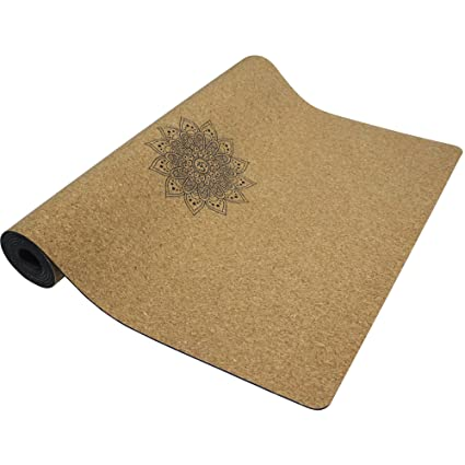 mystory Cork Yoga Mat Non Slip Naturel Rubber 72