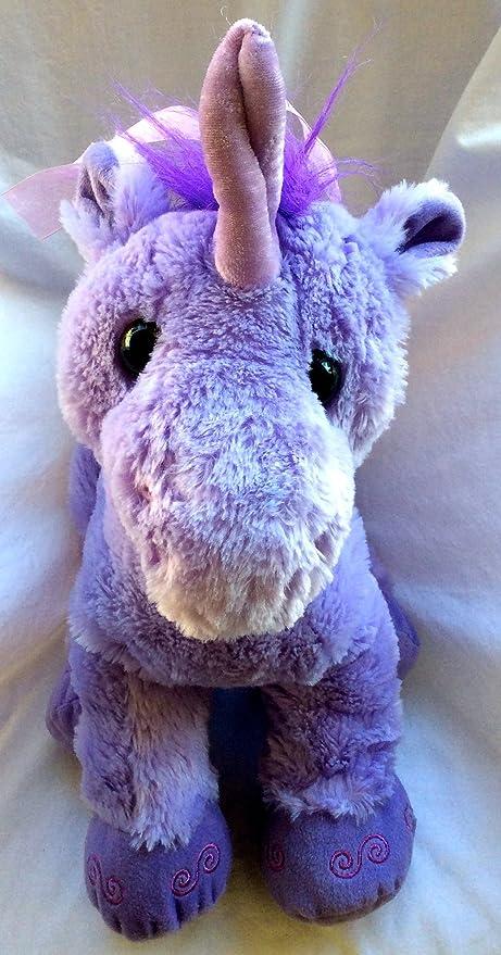 Amazon Com Toys R Us Plush Purple Unicorn Toys Games