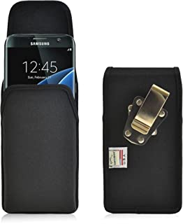 product image for Turtleback Belt Clip Case Compatible with Samsung Galaxy S7 Edge Black Vertical Holster Nylon Pouch with Heavy Duty Rotating Belt Clip Made in USA