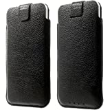 """Samsung Galaxy S7 Genuine Real Cowhide Leather Pouch Case Cover Slip-In Sleeve w/Pull Tab
