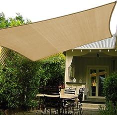 Shadeu0026amp;Beyond 10u0027x10u0027 Sun Shade Sail Canopy UV Block For Patio Deck