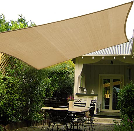 Amazon Com Shade Beyond 10 X10 Sun Shade Sail Canopy Uv Block