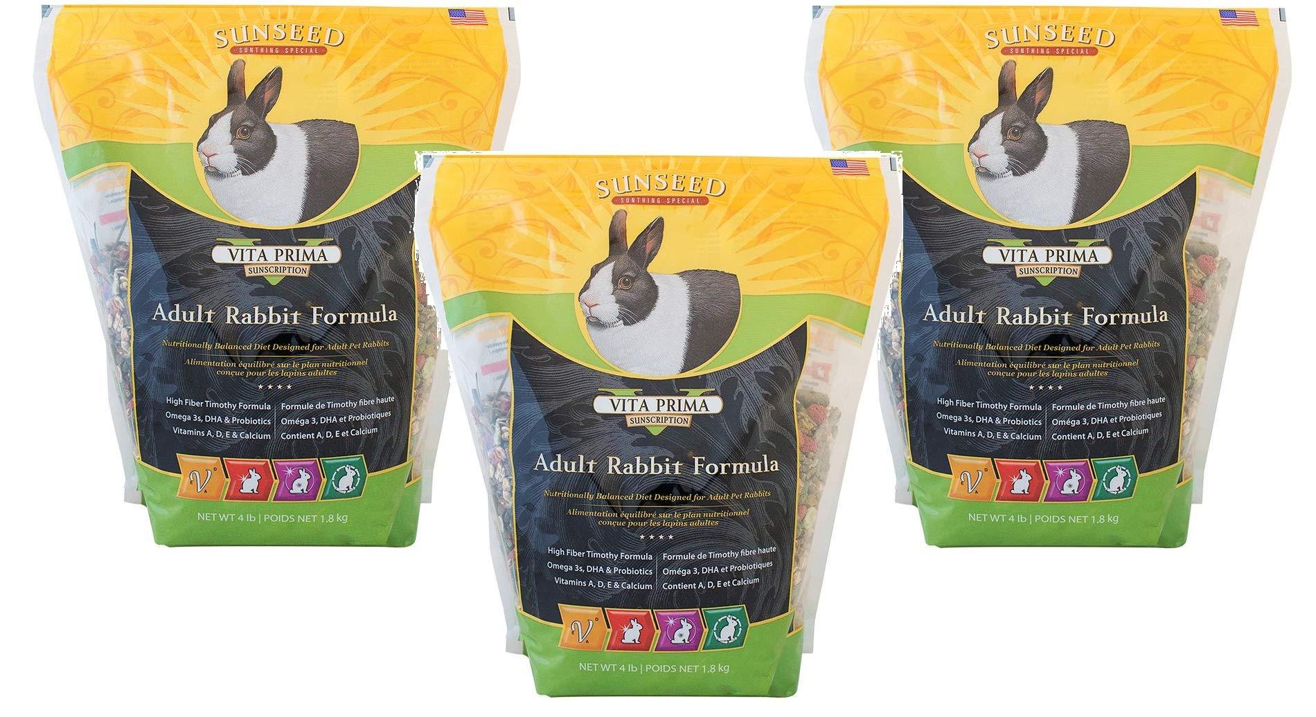 (3 Pack) Vita Prima Rabbit Formula (4 lb. Bag) by Sunseed Company