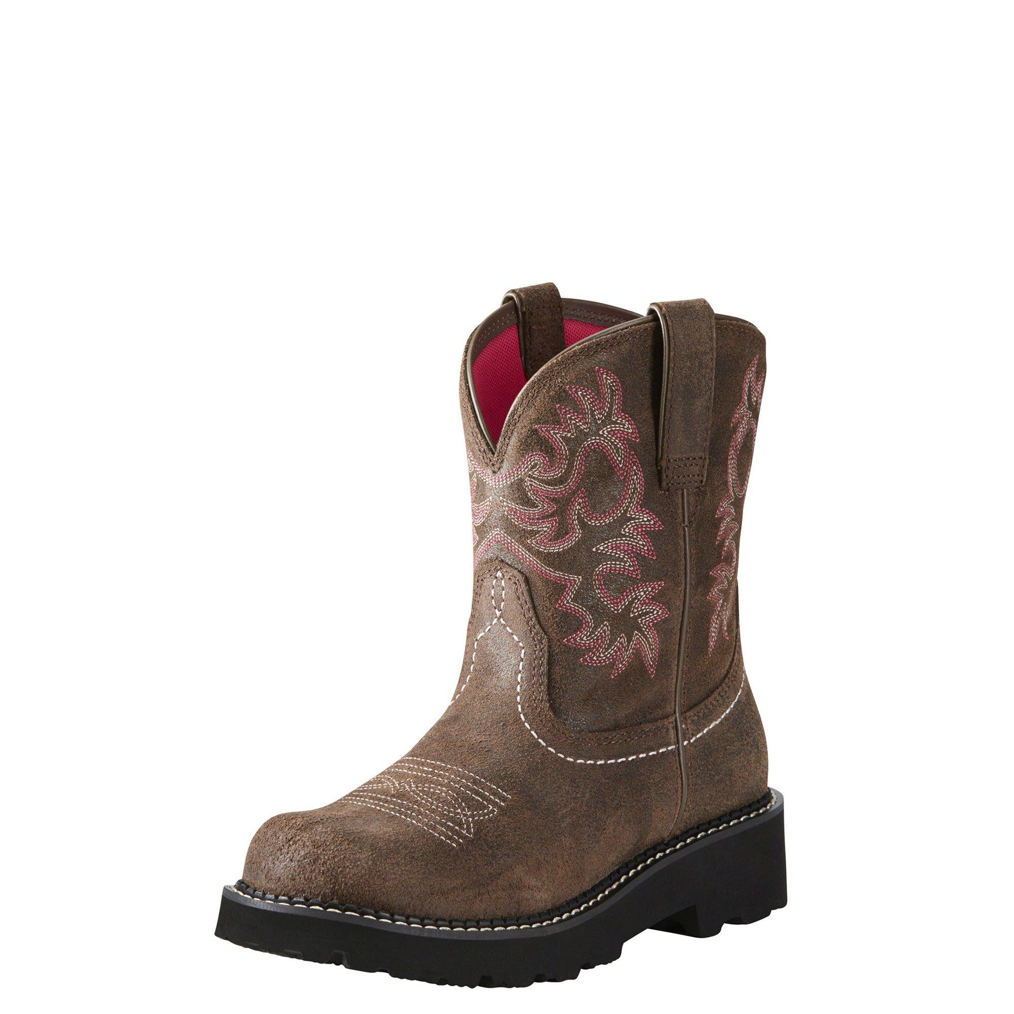 ARIAT WOMEN Fatbaby Collection Western Cowboy Boot, Dark Barley, 6 B US