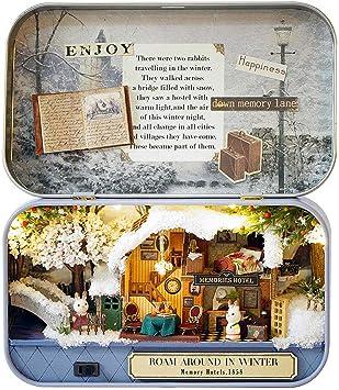 Amazon.es: LaDicha DIY Miniatura De Madera Dollhouse Miniaturas, Casa De Muñecas Muebles para Cumpleaños Juguetes Caja - 02: Juguetes y juegos