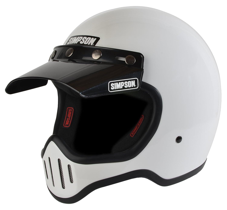 Simpson M50DL1 Model 50 Dot Helmet Lrg White