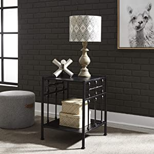 Liberty Furniture Industries Vintage Series Open Night Stand, Black