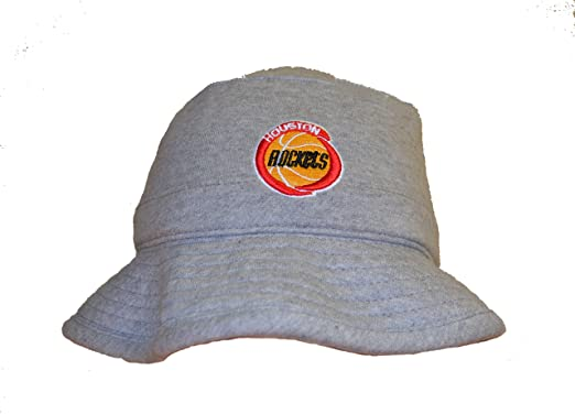 9d113685a Mitchell & Ness Mens Gray Fitted Fleece Bucket Hat - NBA Swimming/Fishing  Cap