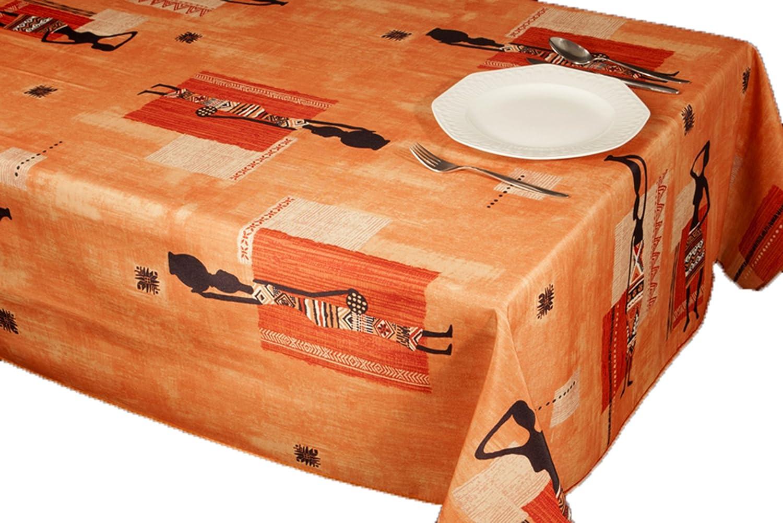 Tovagliette Mobili Jardin Stampe Antimacchia Colori Primaverili Decorazione Casa 350 x 150 cm Orange Afrikaanse ExclusivoCIR