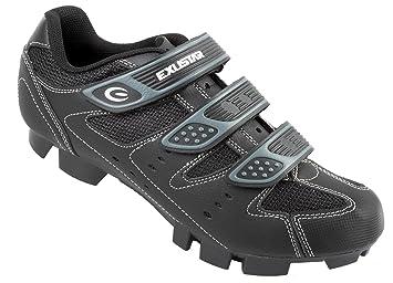 Exustar MTB Bicicleta - Zapatillas, Color Negro/Plateado, Talla 47: Amazon.es: Deportes y aire libre