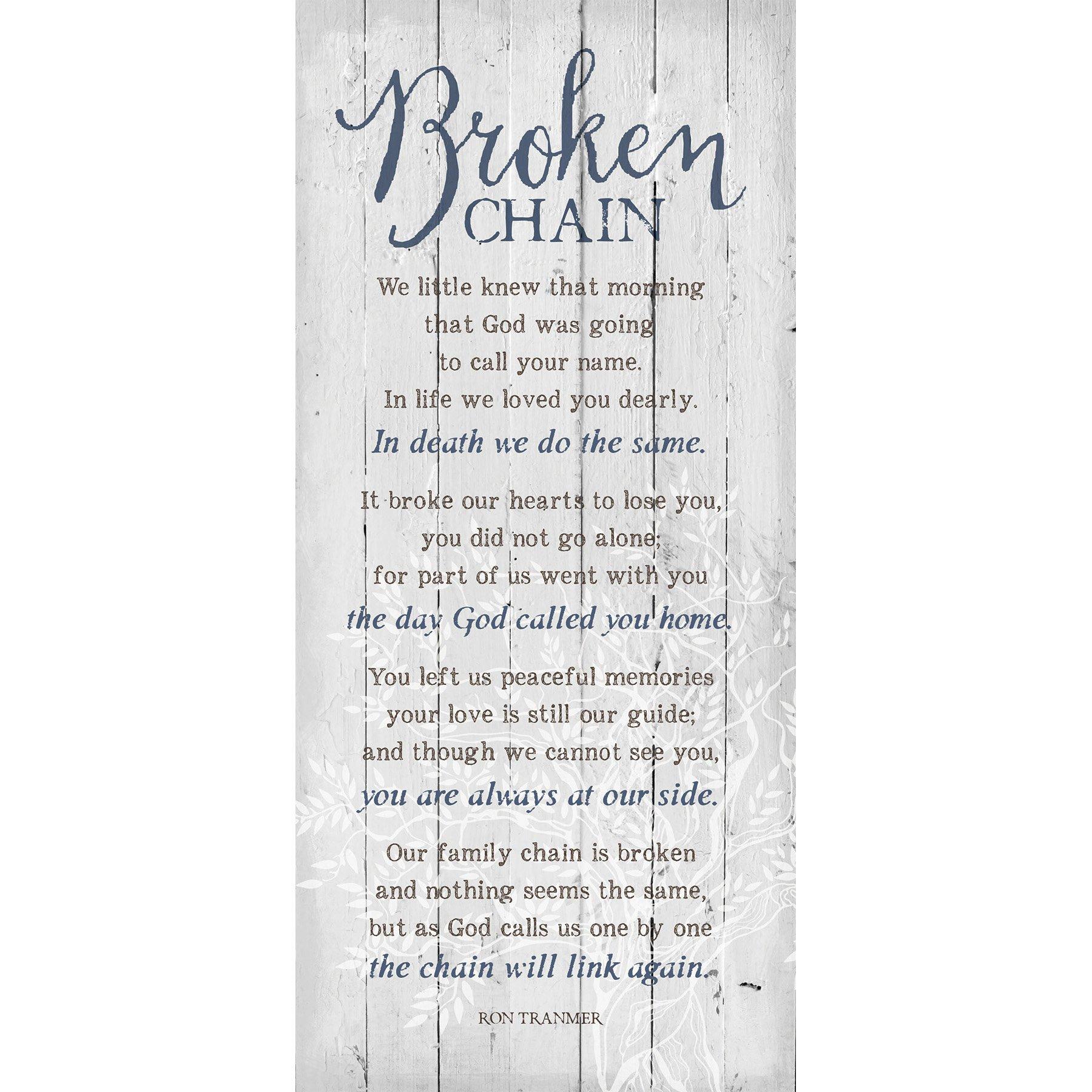 Broken Chain 6 x 9 Wood Plank Look Wall Art Plaque