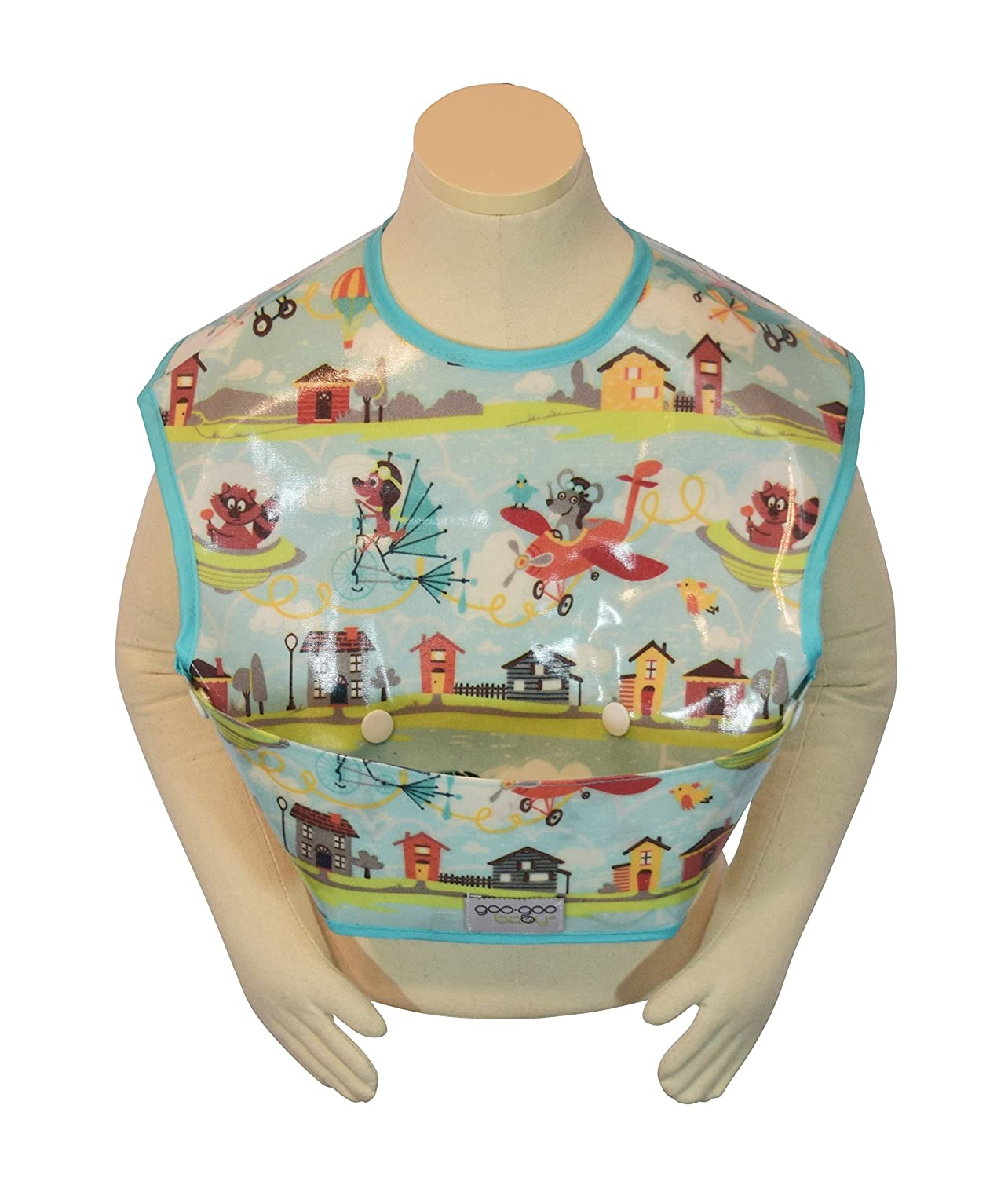 Goo-Goo Baby Perfect Pocket Bib, Multi, Aviator, Large PPB-AVIATOR-L
