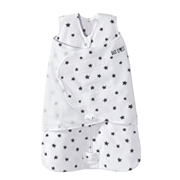 online store d7bca b09a0 Halo Sleepsack Swaddle Micro Fleece - Mini Stars Charcoal, Size SM