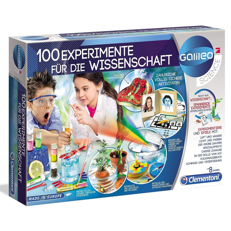 100 Experimente Wissenschaft Clementoni Galileo Experimentierkasten Set Kasten