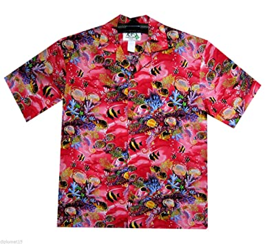 017a6749 Original Hawaiian Shirt Men Short Sleeve Front-Pocket Animal Designs ...