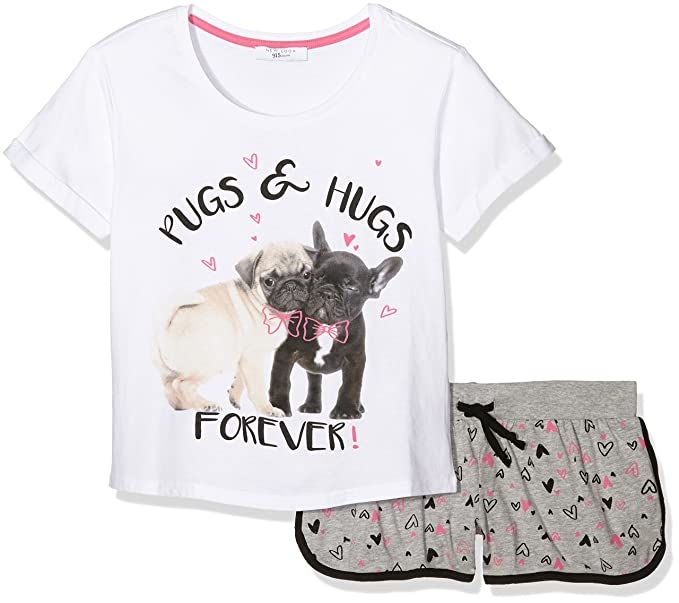 New Look Pugs and Hugs, Conjuntos de Pijama para Niñas, Gris (Mid Grey), Small: Amazon.es: Ropa y accesorios