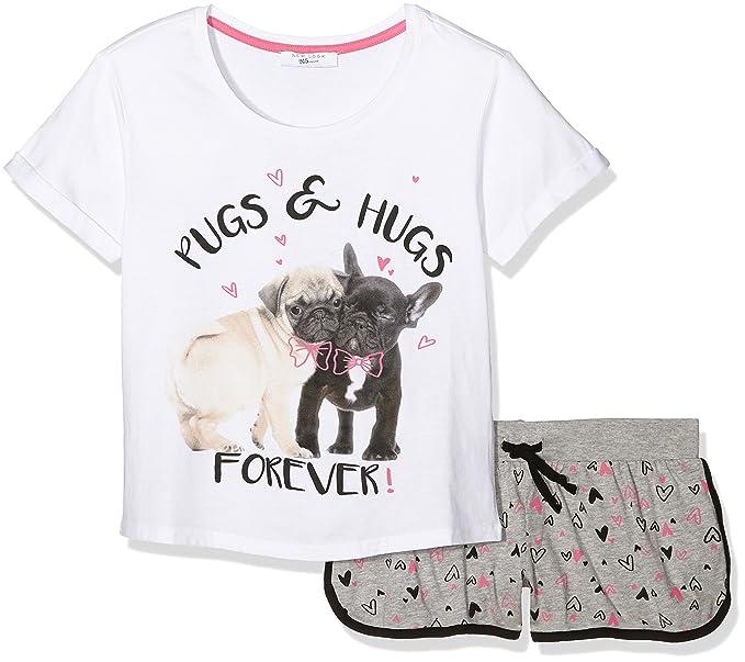 New Look Pugs and Hugs, Conjuntos de Pijama para Niñas, Gris (Mid Grey), Small: Amazon.es: Ropa y accesorios