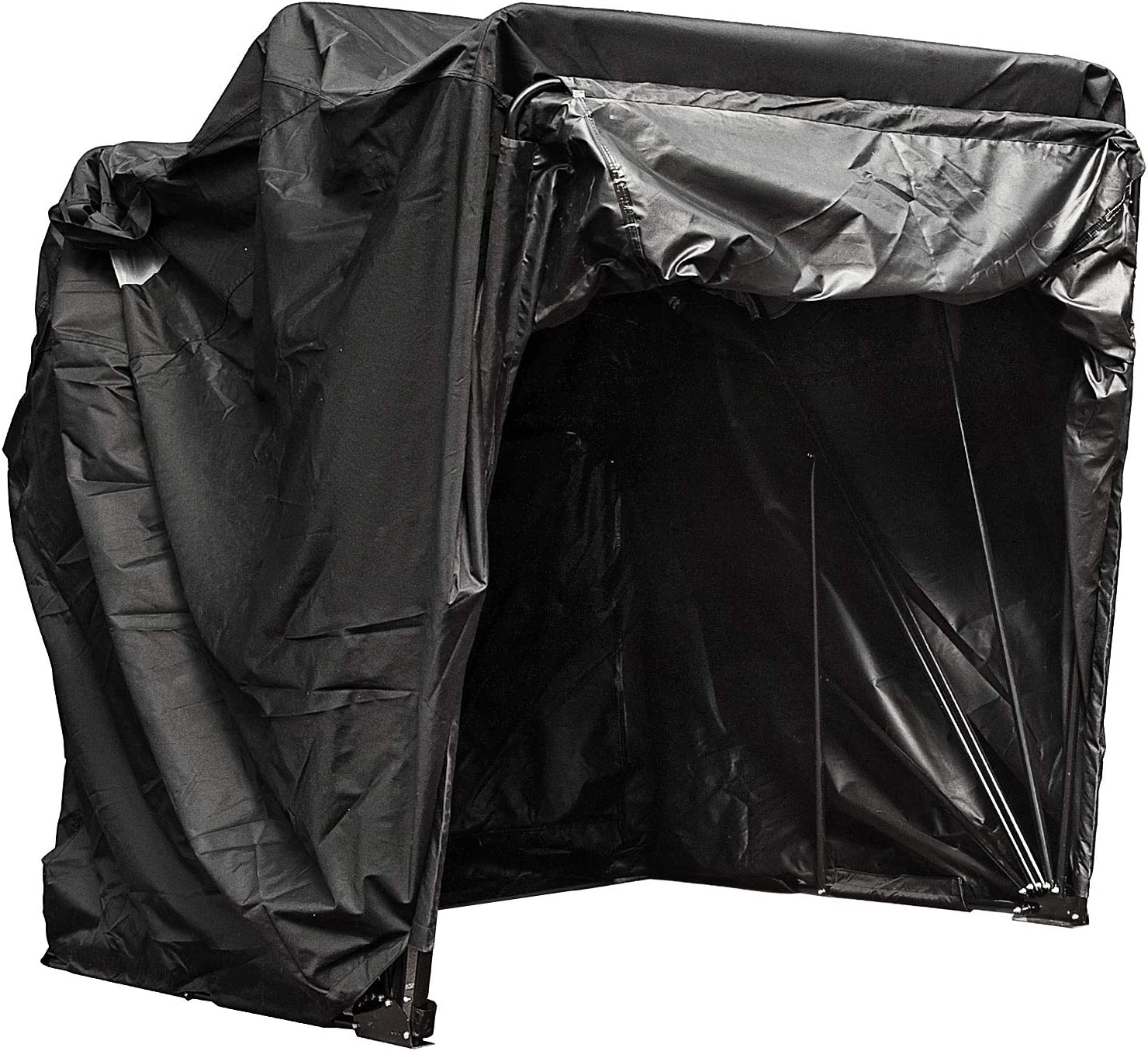 Rain Protect 600D Fabric Ventilation Motorcycle Shelter Cover Anti-UV with Quenched Steel Frame Oxford Carry Bag FlowerW Standard L Size Motorcycle Shelter Mobility Scooter Cover
