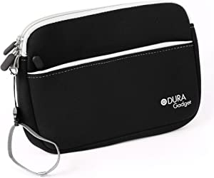 DURAGADGET Neoprene Black Soft Protective Carry Case - Compatible with Dell Venue 8 3000 Series