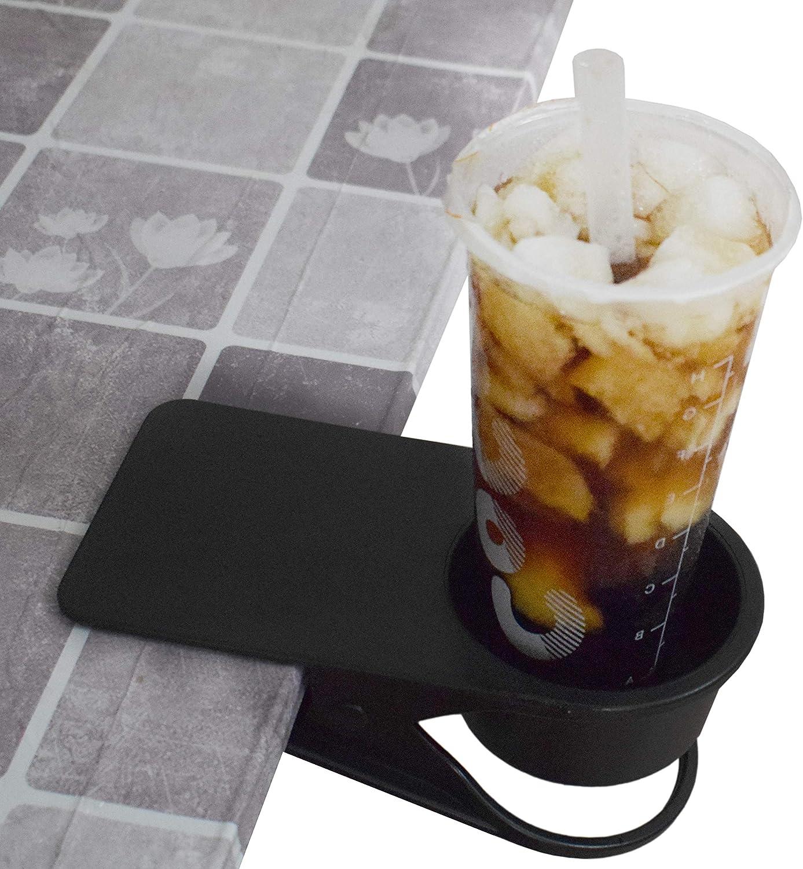 Home Office Table Desk Side Huge Clip Tea Coffee Cup Holder Clip Teacup Drinking Cup Holder Clip Clamp,Black