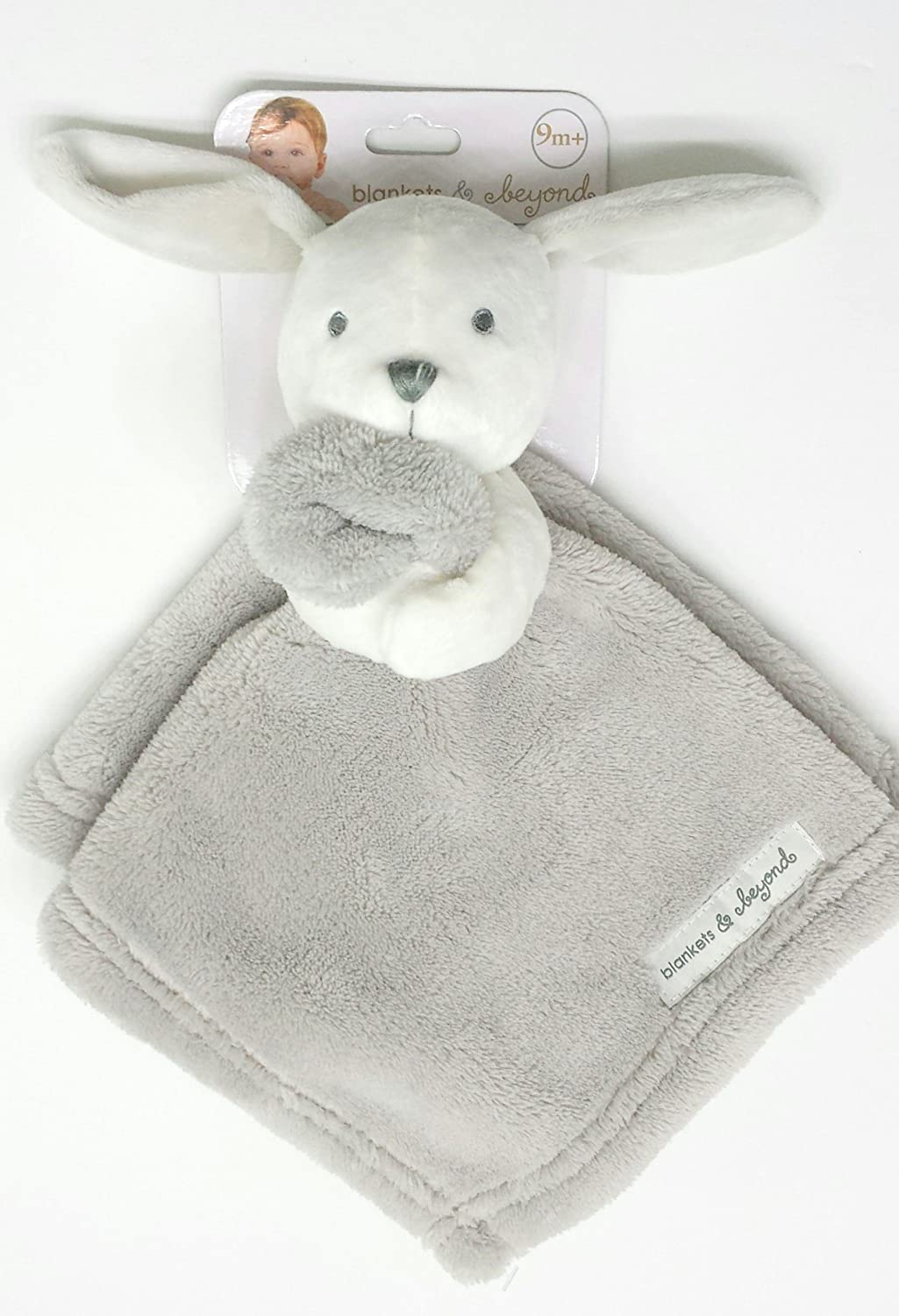 Blankets and Beyond Grey and White Puppy Nunu Baby Security Blanket by Blankets and Beyond   B01AH6GXNE