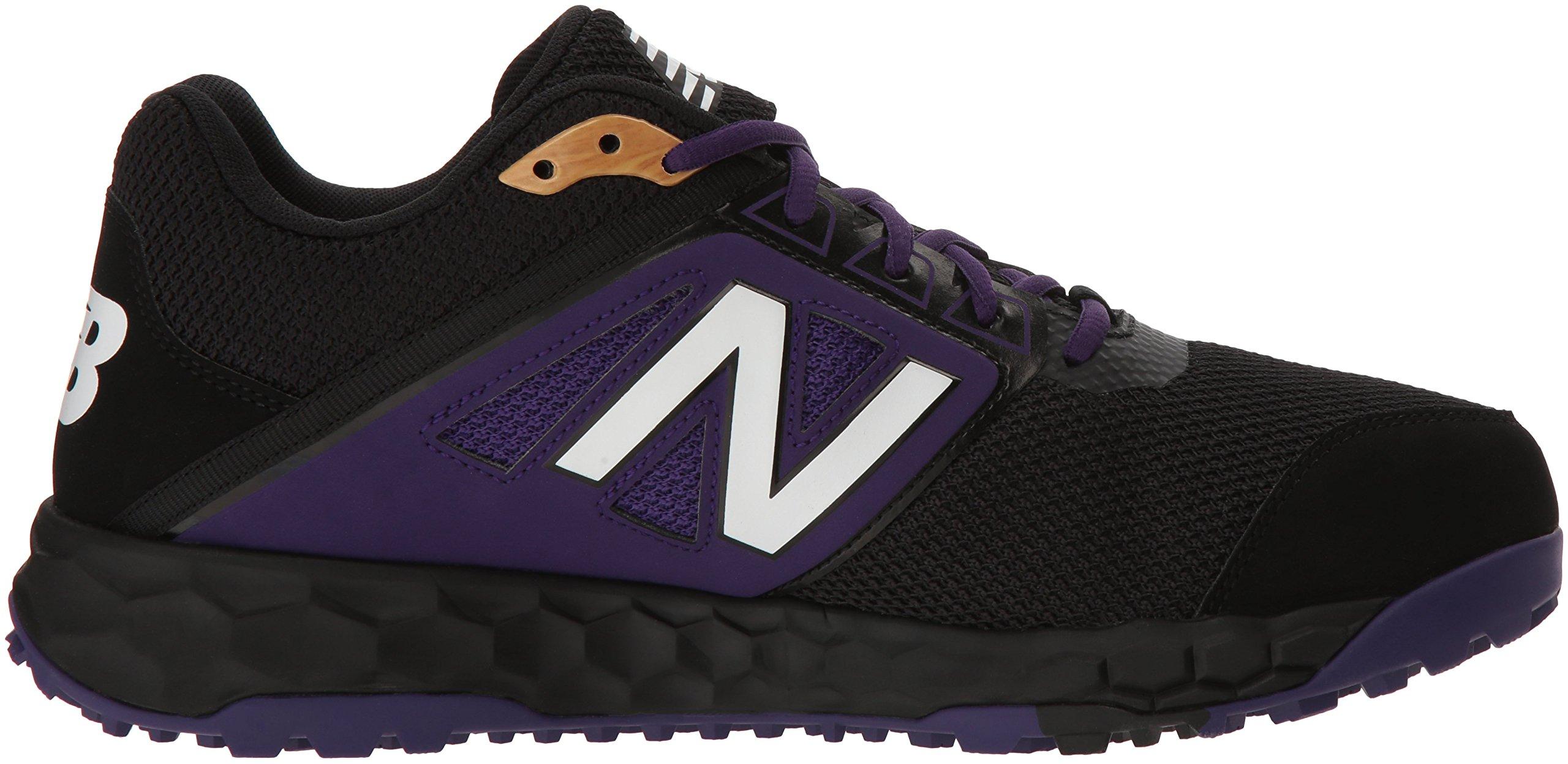 New Balance Men's 3000v4 Turf Baseball Shoe, Black/Purple, 5 D US by New Balance (Image #6)