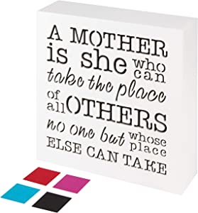 KAUZA A Mother is she who can take The Place of All Others but Whose Place no one Else can take - Gifts for Mom Mother's Day Mother Mum Mommy