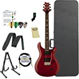 Paul Reed Smith Guitars ST24VC-Kit02 PRS SE Standard 24 Vintage Cherry Electric Guitar with ChromaCast Hard Case & Accessories