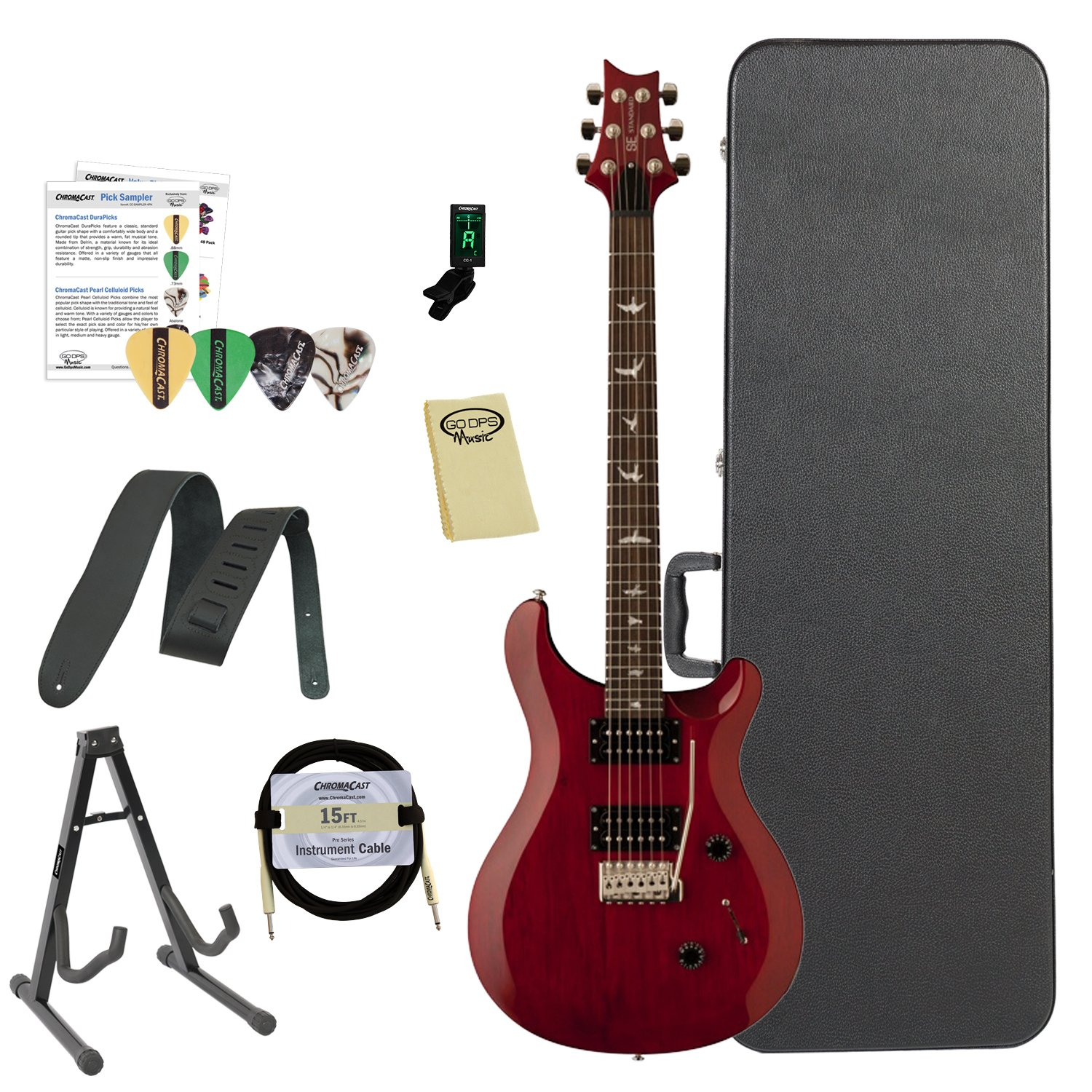 Amazon Paul Reed Smith Guitars ST24VC Kit02 PRS SE Standard 24 Vintage Cherry Electric Guitar with ChromaCast Hard Case & Accessories Musical