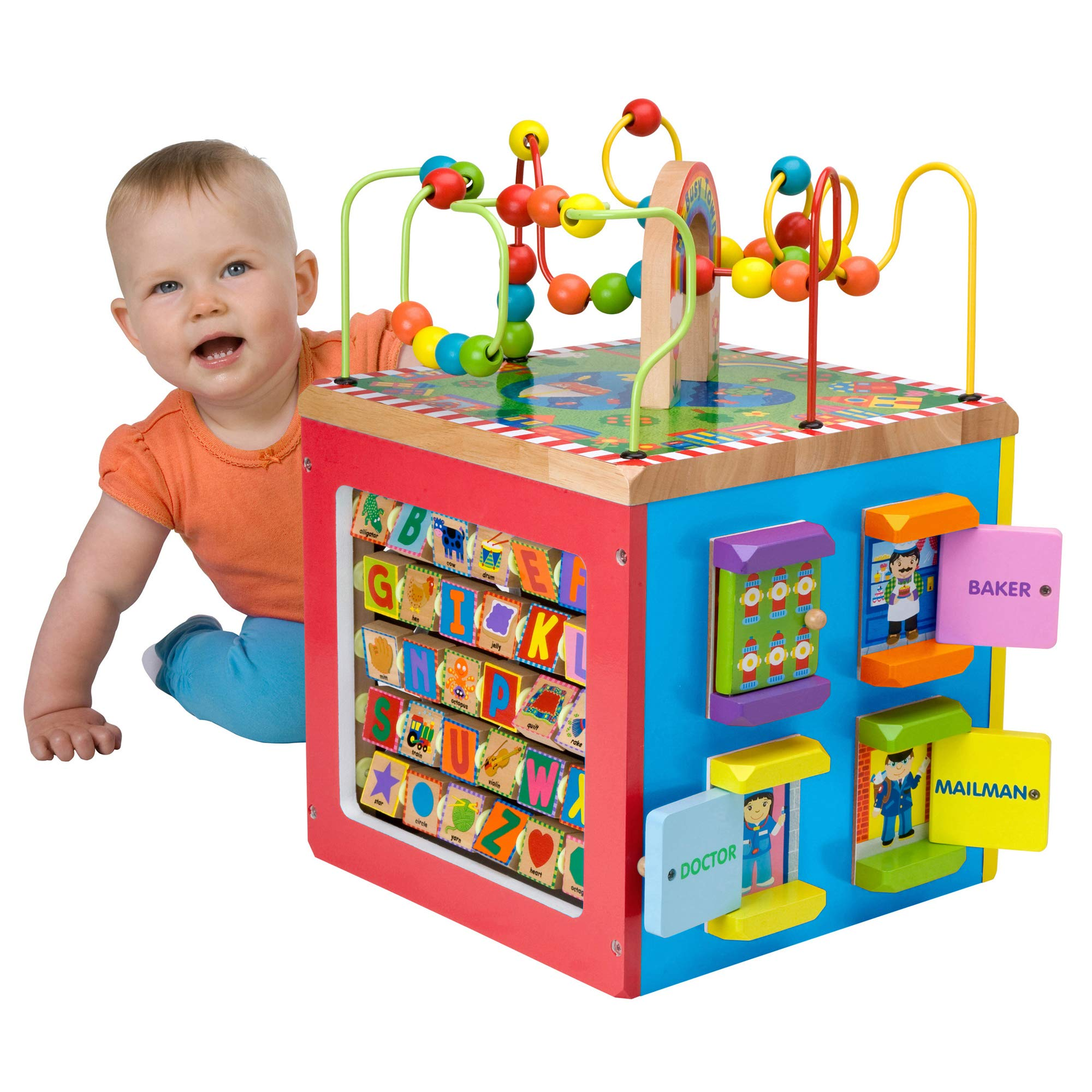 ALEX Discover My Busy Town Wooden Activity Cube by ALEX Toys (Image #2)