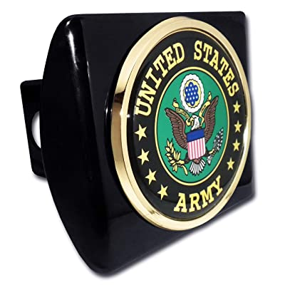 Elektroplate United States Army Eagle Black Metal Hitch Cover: Automotive