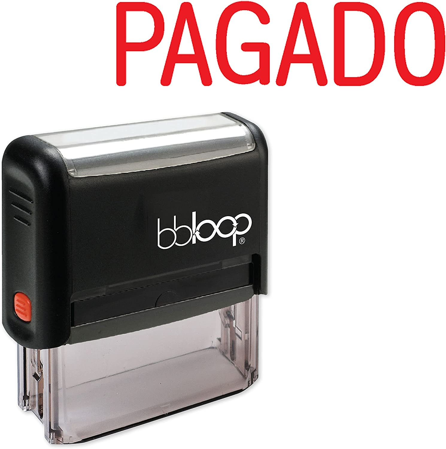 """""""Pagado"""" Self-Inking Rubber-Stamp in Spanish"""