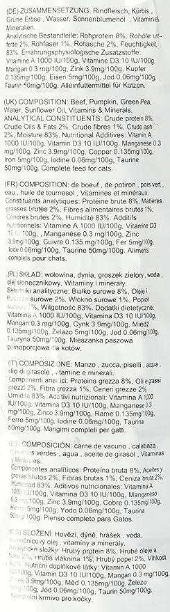 Thrive Comida Completa para Gatos con Carne de Res con Vegetales, Paquete de 6