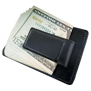 c467fd9e00d61 Hanks Leather Money Clip Front Pocket Wallet with Credit Card Holder – USA  MADE - Black