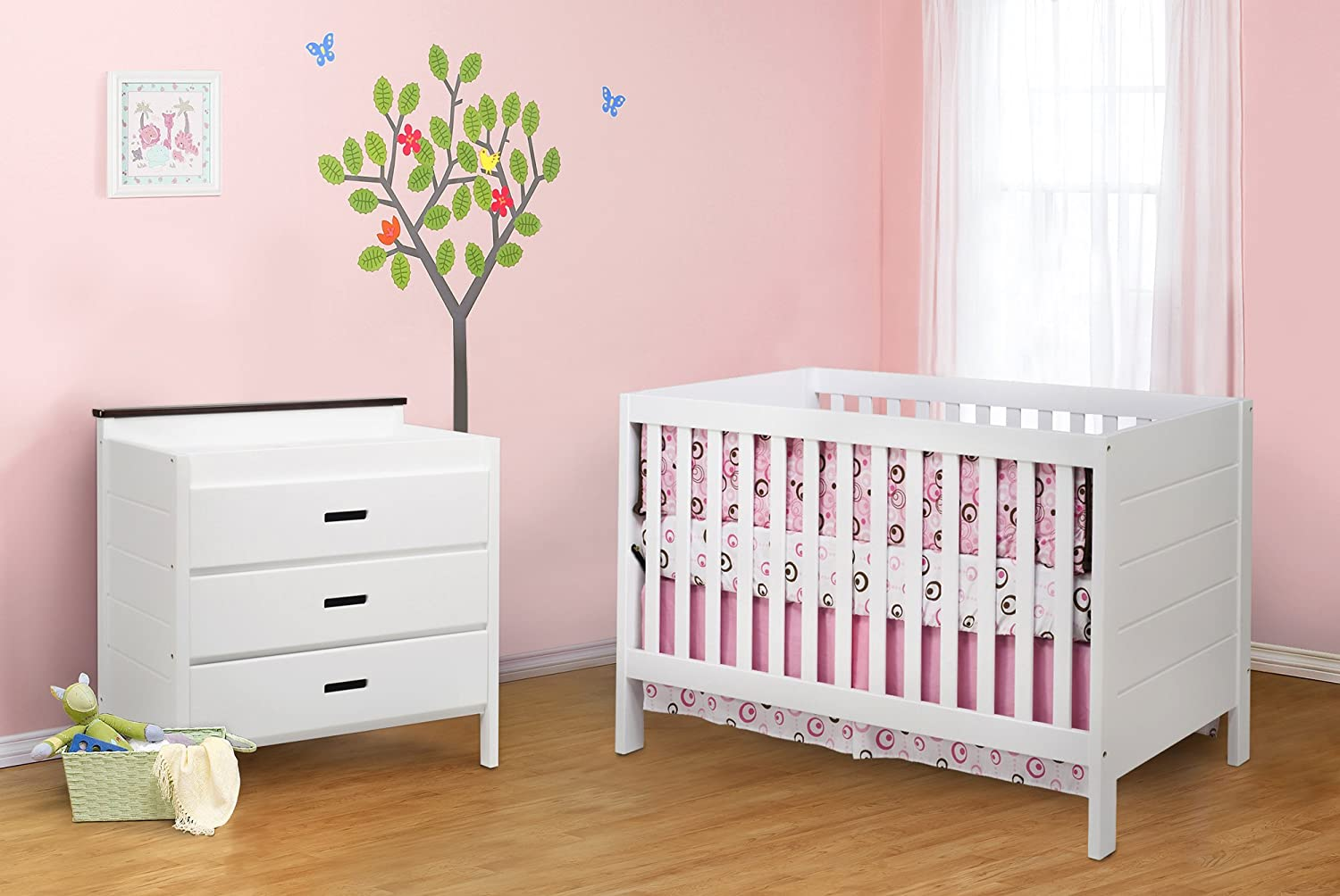 Amazon.com : Baby Mod Modena 3 Drawer Changing Table, Espresso And White  (Discontinued By Manufacturer) : Baby
