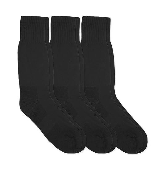 929e22445a1ff Jefferies Socks Mens Military Blister Guard Mohair Wool Combat Boot Crew  Socks 3 Pair Pack (Sock:10-13/Shoe:9-13, Black) at Amazon Men's Clothing  store: