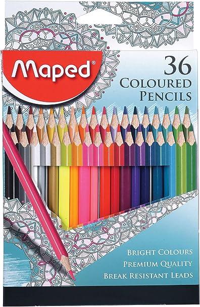 Maped 832217 caja de lápices de colores: Amazon.es: Oficina y papelería