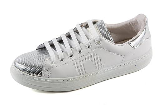 Natural World Damen Deportivo Sneaker Low Weiß Silber Gr. 37