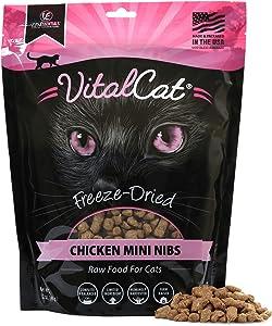 Vital Essentials Vital Cat Freeze-Dried Chicken Mini Nibs Cat Food, 12 oz