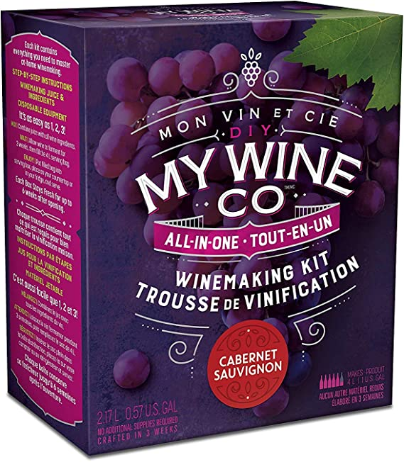 DIY MY WINE CO. All-In-One Cabernet Sauvignon Winemaking Kit