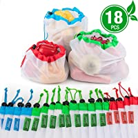 Bolsas reutilizables de malla de producción Bolsas lavables para almacenaje de tiendas de comestibles, frutas, vegetales...