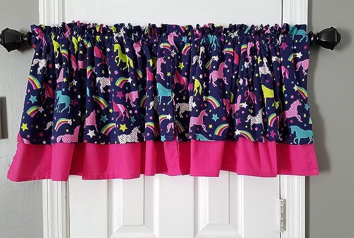 Amazon.com: Girl Bedroom Curtains, Unicorn Curtains, Short Curtains ...