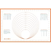 Glitz Star Baking Mats Pastry mat Cooking mat Sheets Non-Stick Silicone Counter Mat, Oven Liner, Fondant Pie Crust Mat for Rolling Dough,Extra Large ,Orange border(66x43cm) 2nd gen