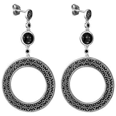 0e98bc5af Thomas Sabo Blackened Zig Zag Earrings H1849-641-11: Amazon.co.uk: Jewellery
