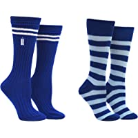 Doctor Who 13th Doctor Socks Women & Girls (2 Pair) - Doctor Who Merchandise Crew Socks - Fits Shoe Size: 4-10 (Ladies)