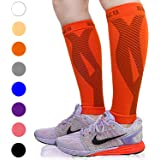 BLITZU Calf Compression Sleeves for Women & Men Leg Compression Socks for Runners, Shin Splint, Recovery from Injury & Pain Relief Great for Running, Maternity, Travel, Nurses