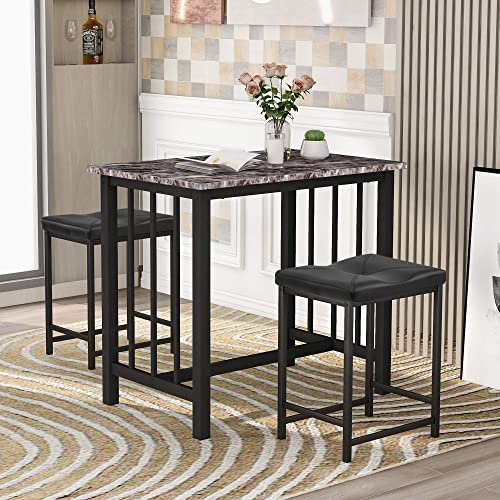 MOREASE Table Set Kitchen Counter Height Dining Set