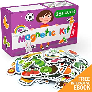 X-bet MAGNET Foam Magnets for Toddlers - Refrigerator Magnets for Kids - Baby Magnets for Fridge and Whiteboard - Zoo, Farm and Animals Educational Toys - Ideal for Kids!