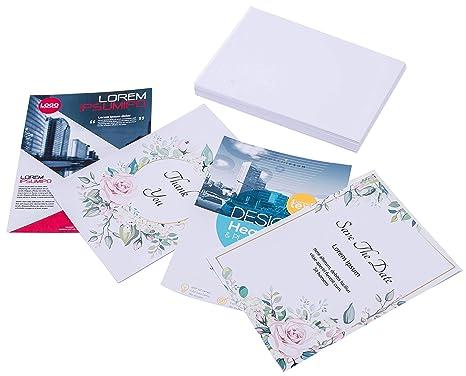 Amazon.com: Cartulina Papel 80 lb cubierta, 220 gsm, blanco ...